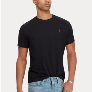 Ralph Lauren Men's Crewneck Tee - Black - Size L